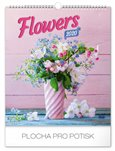 Obálka knihy Nástěnný kalendář Květiny 2020, 30 × 34 cm