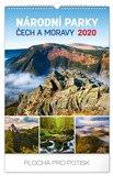 Obálka knihy Nástěnný kalendář Národní parky Čech a Moravy 2020, 33 × 46 cm